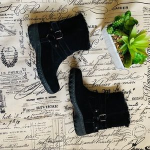 Khombu weatherproof fur snow boots